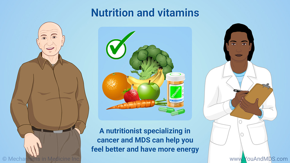 Nutrition and vitamins to help manage symptoms and side effects