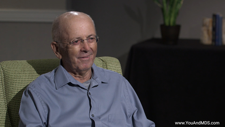 Bill's story: What advice do you have for other patients on their journey with MDS-related anemia?