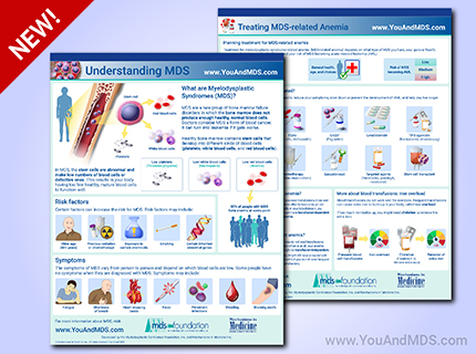These free infographics can be downloaded and shared to help promote MDS education and awareness.